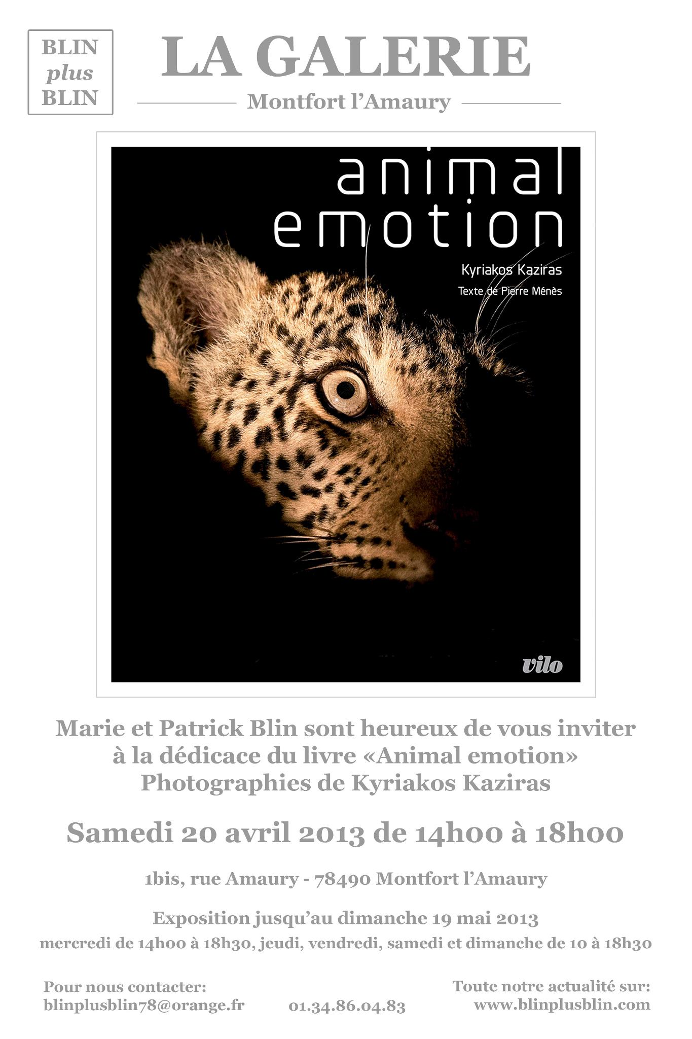 Exposition Animal Emotion à la Galerie Blin plus Blin