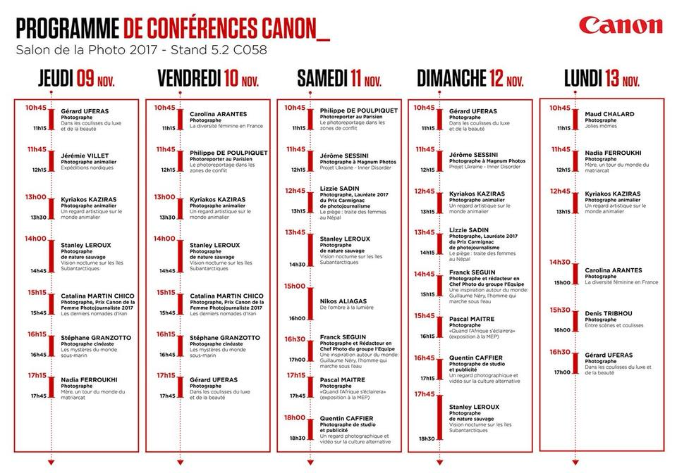programme conferences canon kyriakos kaziras salon de la photo 2017
